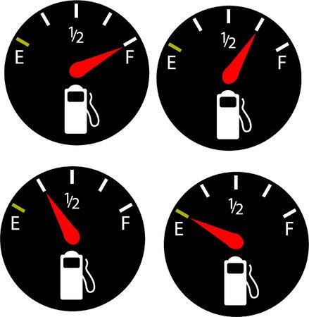 fuel gauge: Fuel gauge illustration