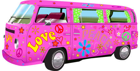 hippy: Hippy van Illustration