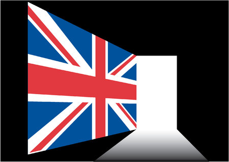 brit: union jack with door