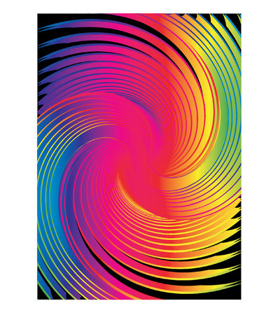stock photograph: abstract rainbow swirl Illustration