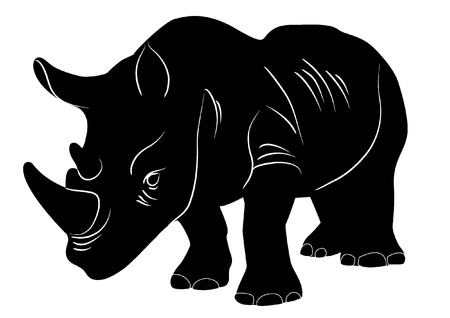 nosorożec sylwetka