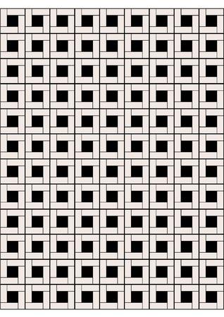 tiled floor: marble tiled floor Illustration