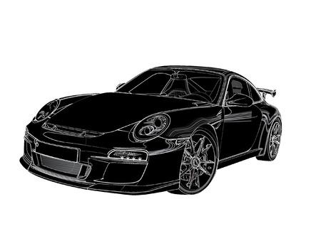 sports car silhouette Иллюстрация