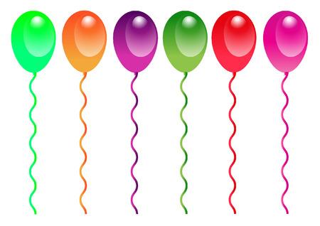 Obchody urodzin balonów na białym tle