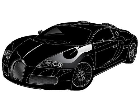 sports car silhouette Ilustracja
