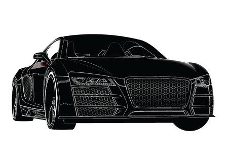sports car silhouette Vettoriali