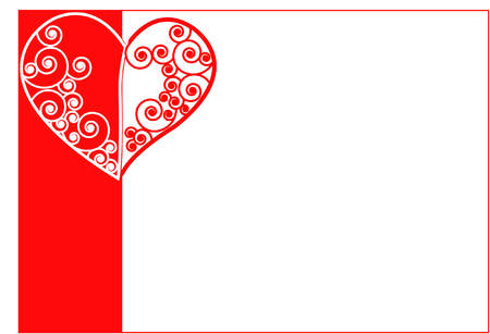 wedding  art: heart with swirls, vector Illustration