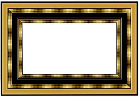 free photos: old antique gold frame over white background Illustration