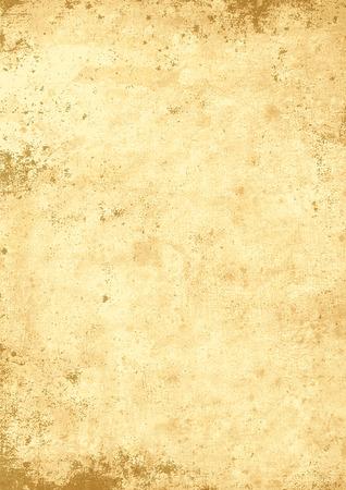 Antikes gelblich Pergament-Papier-grungy Hintergrund-Textur