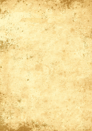 photo paper: Antique yellowish parchment paper grungy background texture Illustration