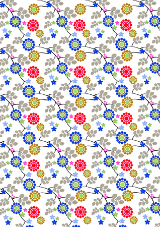 eps picture: Repeating Floral Background