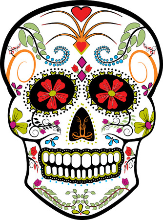 Day Of The Dead Skull Vector Фото со стока - 53413805