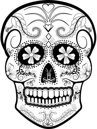 Día del vector muerto del cráneo