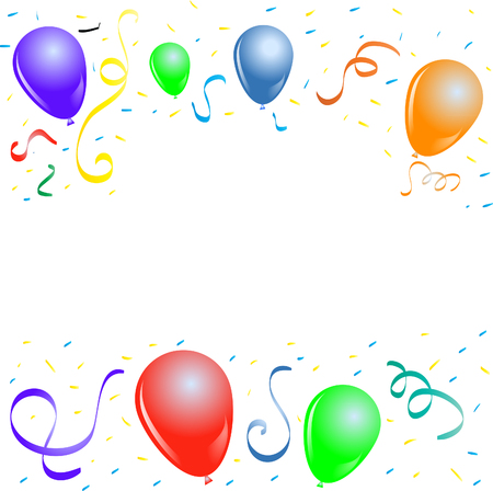 carnival party frame with balloons Vektorové ilustrace