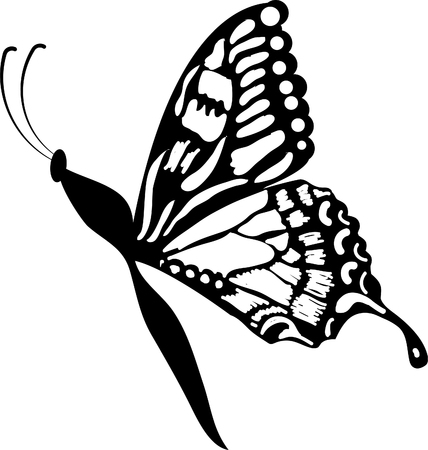 stock clipart icons: butterfly clipart Illustration