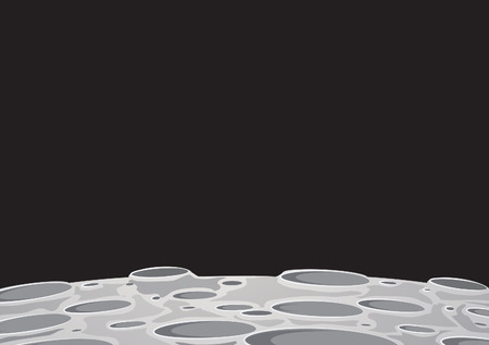 moonscape background image of the moon surface with craters  イラスト・ベクター素材