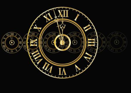 rocznika antyczny zegar twarz