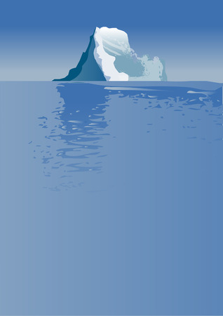 underneath: iceberg above and below the water Illustration