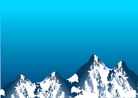 snowcapped mountain: Mountain range