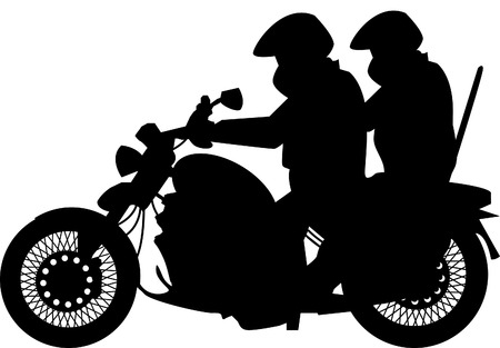 two men: Two men and bike