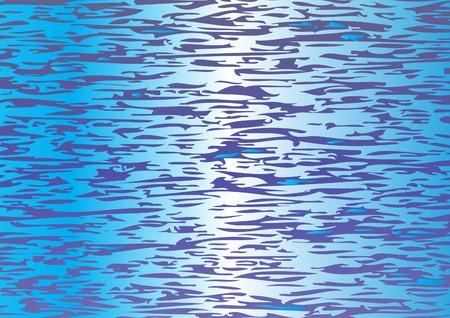 Patroon van de Waterspiegel Vector Illustratie