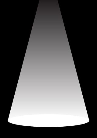 spot lit: spotlight Illustration