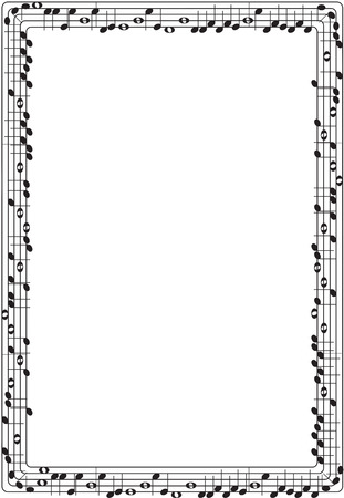 Musical graphic frame