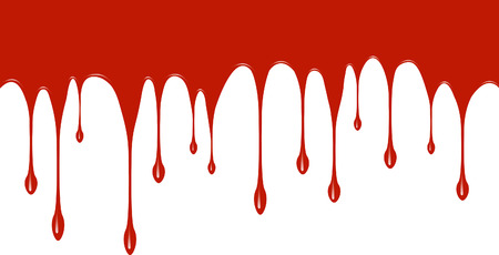 paint dripping: Red paint dripping down Illustration