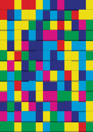 bytes: Color Pixels Abstract background