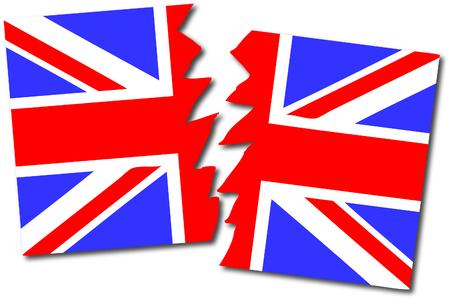Brexit flag Illustration