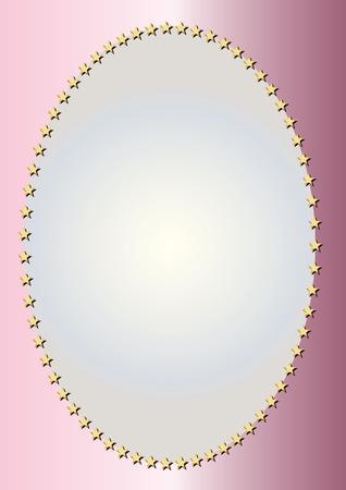 bordering: Gold oval frame