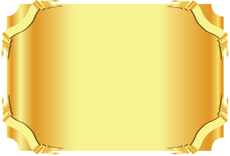 plaque: gold plaque Vectores