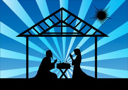 lamb of god: nativity scene