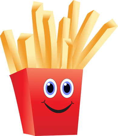 french fries: Cartoon french fries Illustration