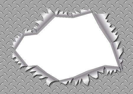 hole: A metal hole burst