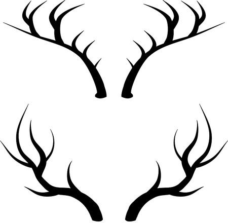 cuernos: cuernos de ciervo