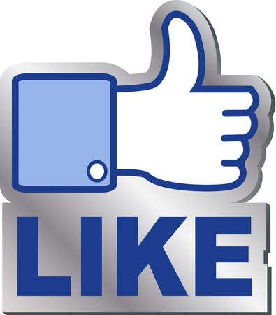 like it button Stock Illustratie