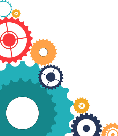engineering icon: clockwork Illustration