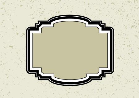 Retro frame Vektoros illusztráció