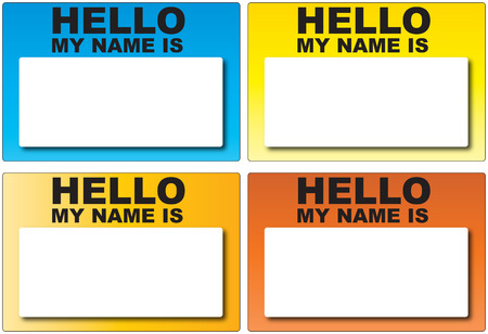 hello my name is: Hello my name is labels Illustration