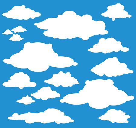 cumulus: cloud set Illustration