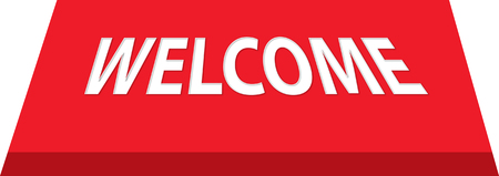 mat: welcome mat in red