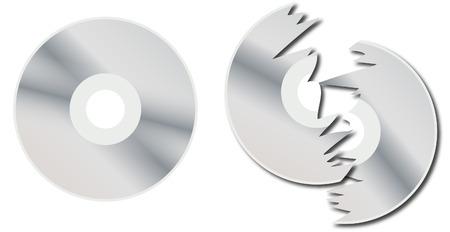optical disk: disk dvd cd isolated Illustration