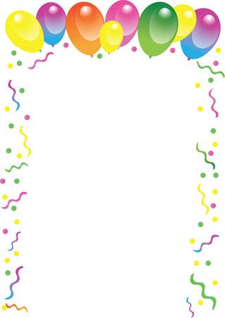 Globo del cumpleaños Ilustración de vector