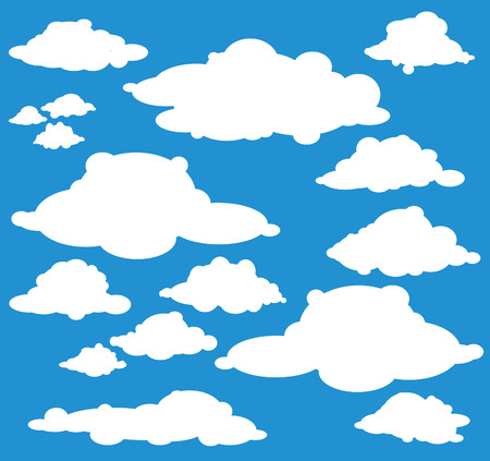 clouds: different clouds Illustration