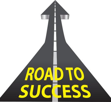 increasing: Road to Success - Up Arrow