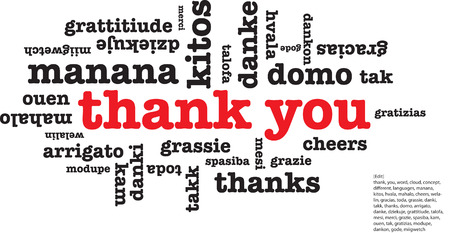 mesi: Thank you word cloud