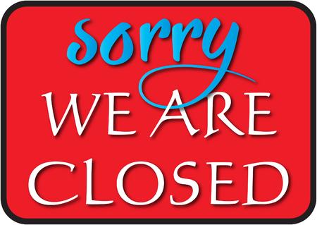 Nous sommes fermés Sign Vecteurs