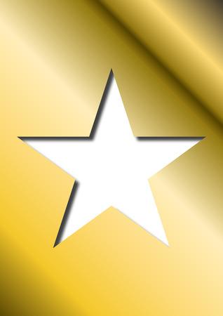 bevel: 3D Golden Star Illustration