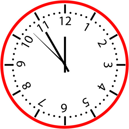 face to face: clock face Illustration